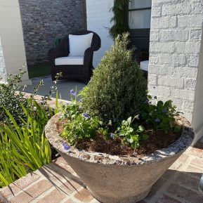 We love the substantial dimensions of these garden pieces!