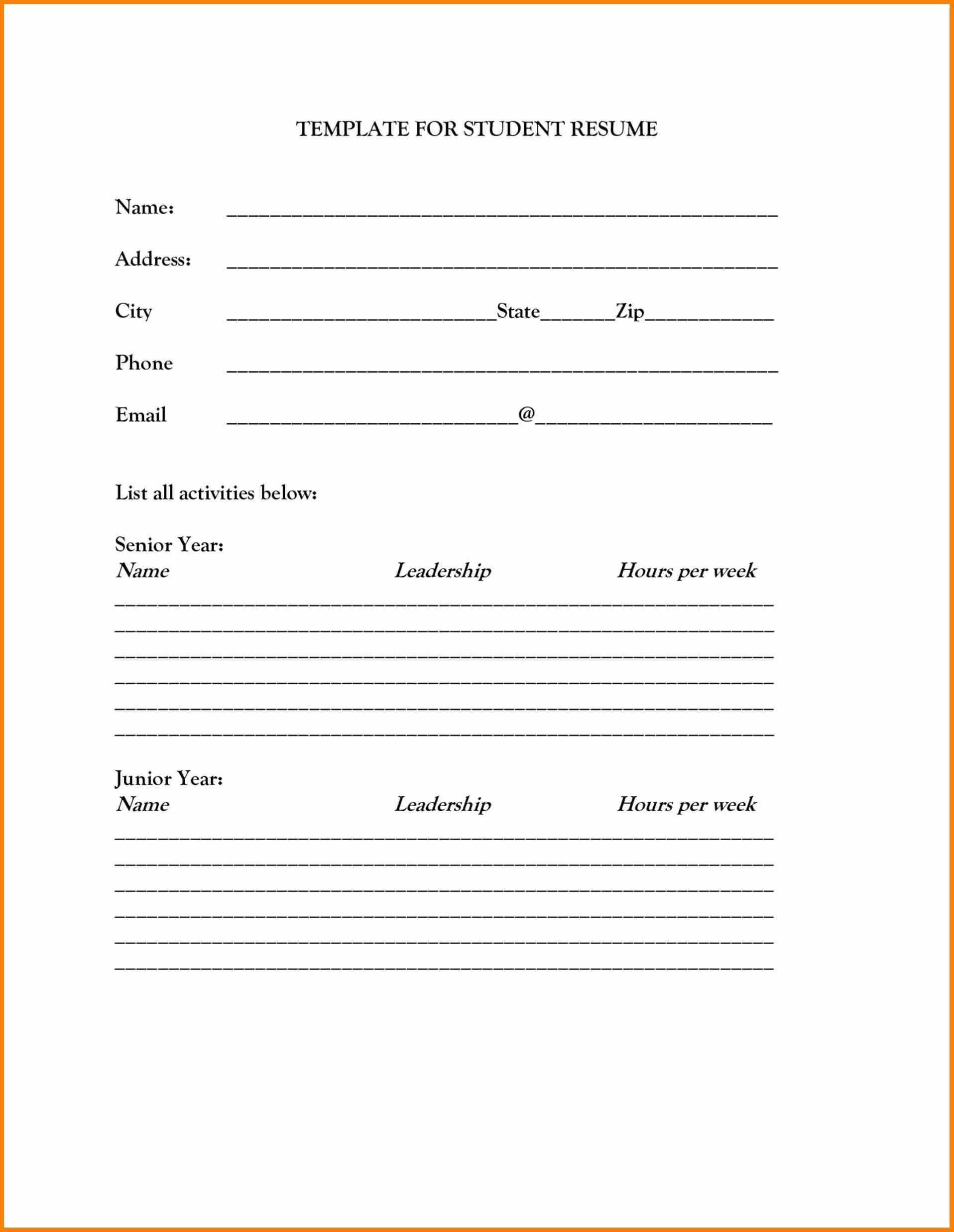 Impeccable Printable Resume Template Blank Mason Website