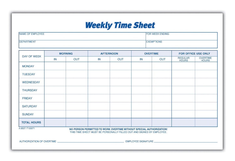 Employee Time Sheets Printable