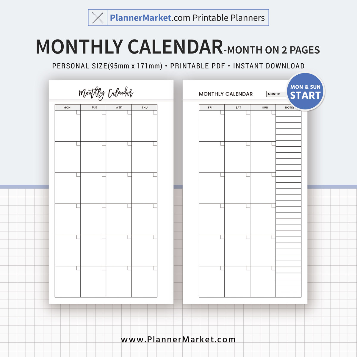 Planner Refill Pages Printable