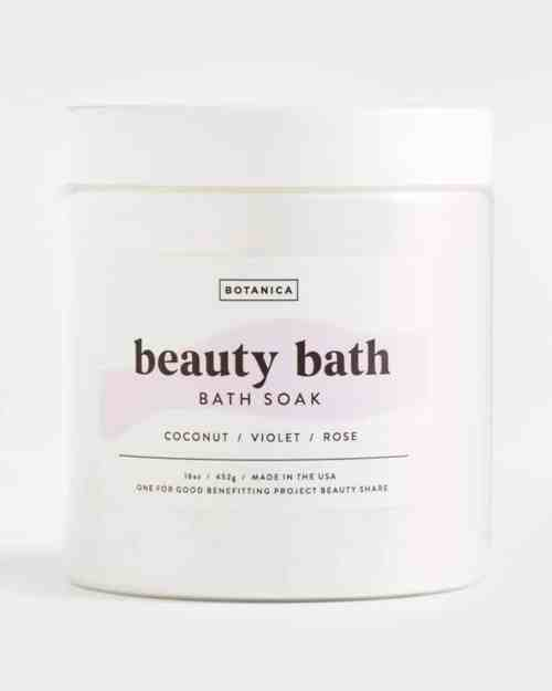 A photo of a bath salt called Beauty Bath Soak