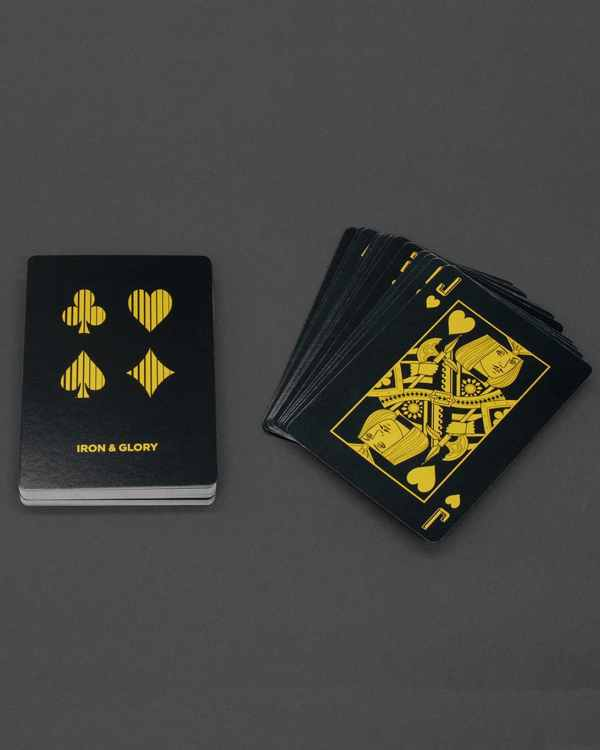 Up the Ante Playing cards fanned out on a table