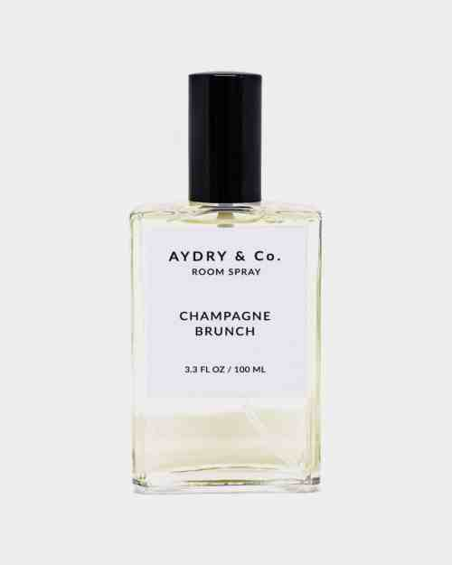 bottle of champagne brunch room spray