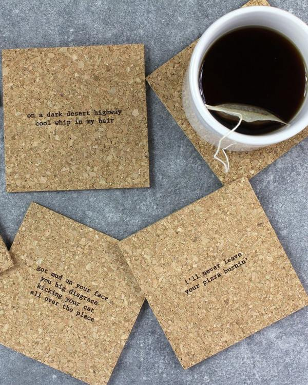 Mistaken Lyrics Coaster Set - Classic rock lyrics