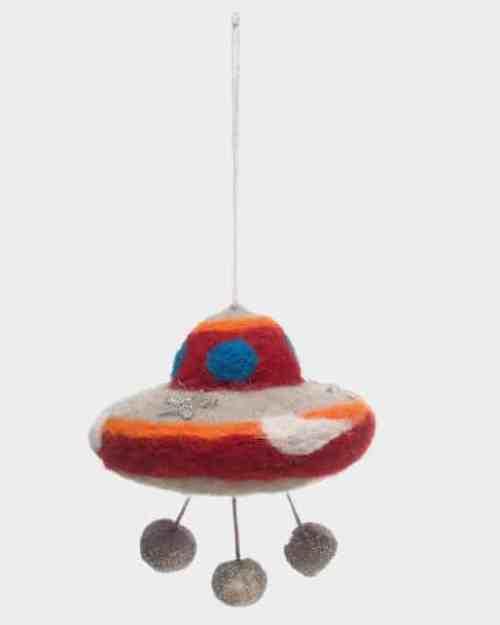 Wool Felt UFO Ornament