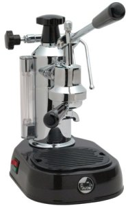 La Pavoni Lever Style Espresso Machine, Black Base