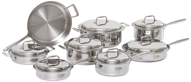 360 Stainless Steel Cookware