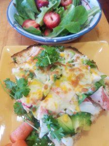 Toasted Imitation Crab Sandwich on Faochia Bread