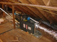 Attic Mounted Central Air Conditioners  Attic Ideas