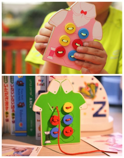 Montessori-Baby-Toys-2-Kinds-Wear-The-Button-Wooden-Toys-Educational-Threading-Board-Beaded-Blocks-Child