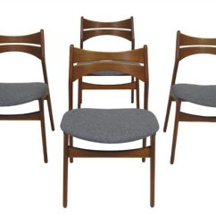Erik Buck Chairs Cheap Black Chair Covers For Rent 1960s Danish Teak Dining Hoopers Modern