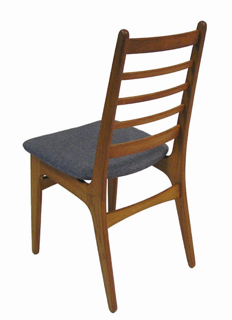 1970s Danish Teak Ladder Back Dining Chairs Set of 4