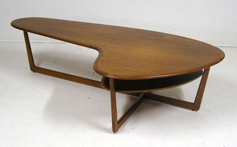 1960/70s Teak Boomerang Coffee Table  Hoopers Modern