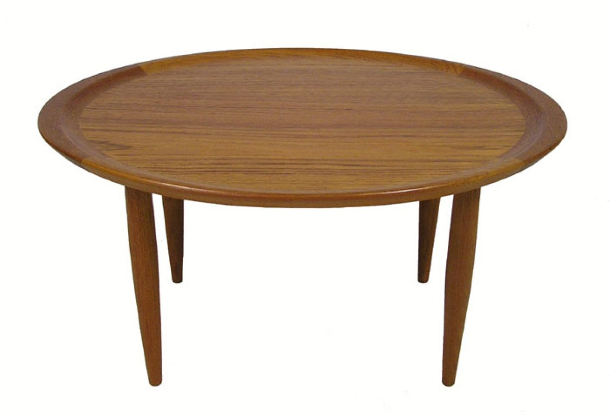 1960s Oval Teak Occasional Table Denmark  Hoopers Modern