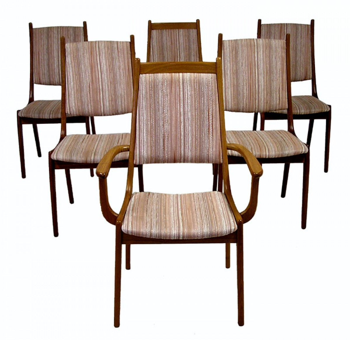 196070s Teak Dining Chairs Set Of 6  Hoopers Modern