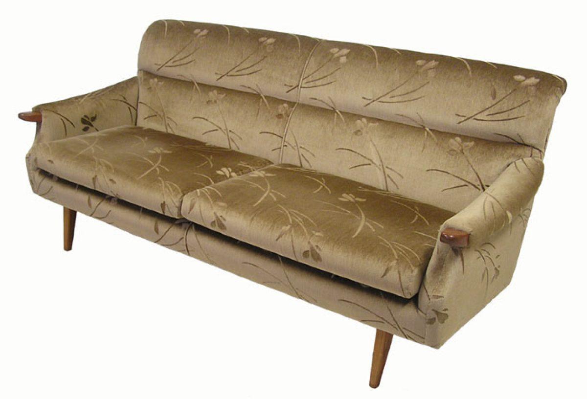 70s sofa sleeper chaise lounge 1960 teak  hoopers modern