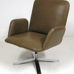 Easy Chair Nadir Steel Chrome Foam Rubber Cushions 1960s And Leather Swivel Denmark  Hoopers Modern