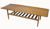 1960/70s Teak Coffee Table w/Lower Shelf  Hoopers Modern