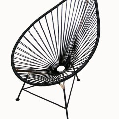 Acapulco Lounge Chair Folding Easy Cloth Chairs Black And Copper  Hoopers Modern