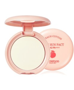 skinfood Peach Cotton Pore Sun Pact SPF42 PA+++ x