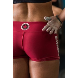 Booty Shorts Savage Barbell - Red