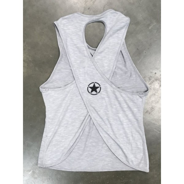 Crossback Tank Top Savage Barbell Heather Grey