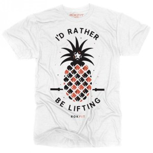 T-shirt Rokfit I'd Rather Be Lifting