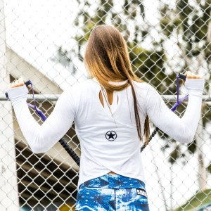 Crossback Savage Barbell Long Sleeve White