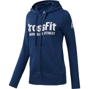 Reebok CrossFit Full Zip Hoodie Blue