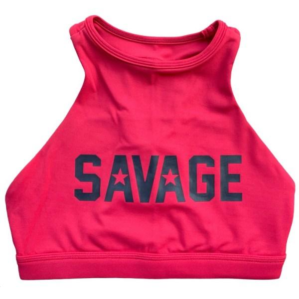 Soutien Desportivo Savage Barbell High Neck Rose