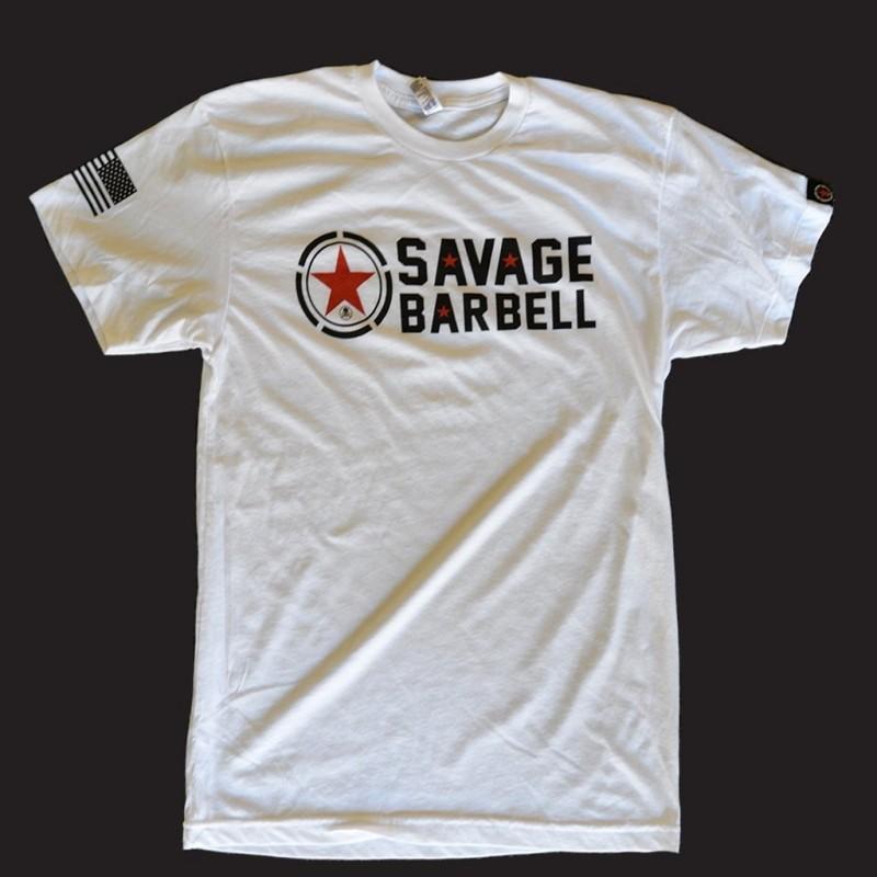 1cb27c72 T-shirt Classic White | Savage Barbell | IGolas Fitness Store