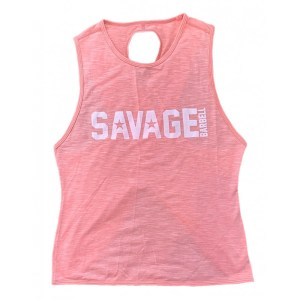 Crossback Tank Top Savage Barbell Peaches n Cream