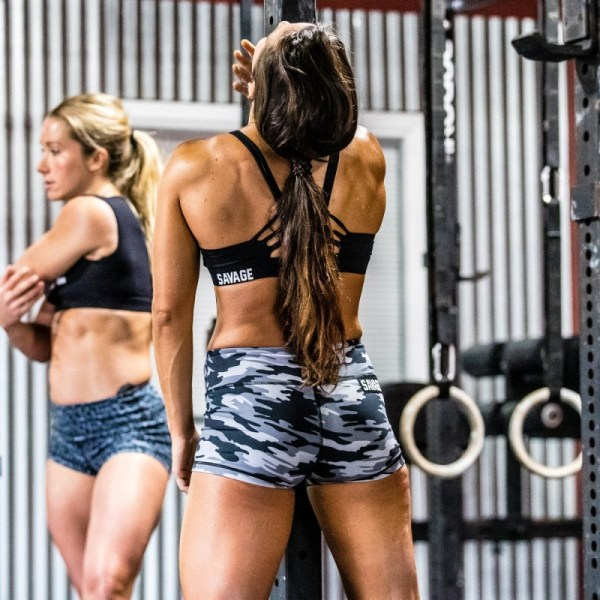 Booty Shorts Savage Barbell Gray Camo