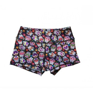 Booty Shorts Savage Barbell Sugar Skulls