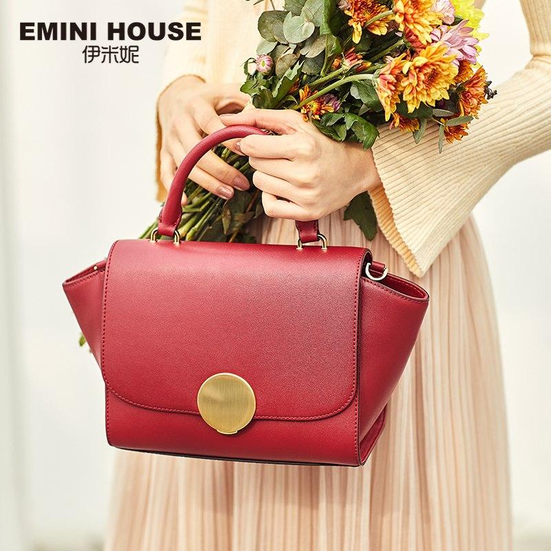 0b01aec111ee Round Lock Luxury Handbags Designer Flap Split Leather