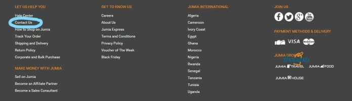 jumia kenya contacts one