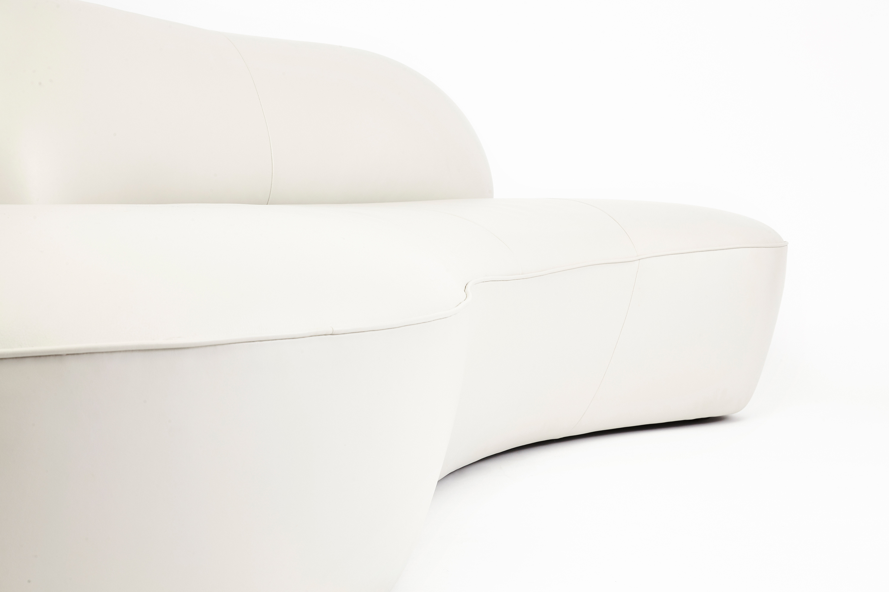 holly hunt sofa cost coaster table vladimir kagan serpentine in leather