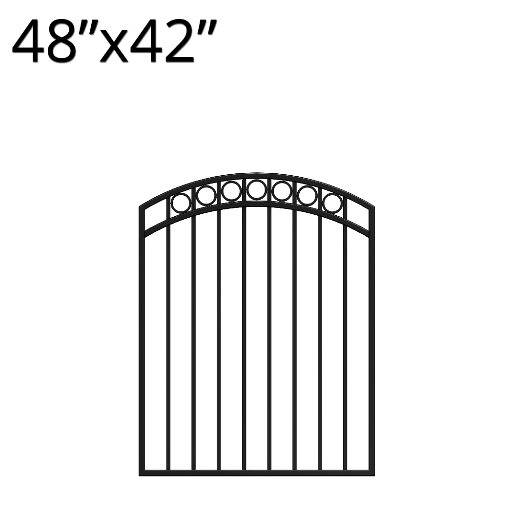 Iron Gate Arched 48 X 42 Denali