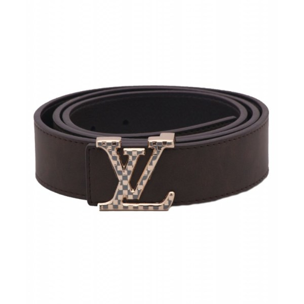 Brown Lv Logo Buckle Style Belt Sj-116