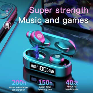 F9 TWS Bluetooth5.0 True Wireless Earphones 5D Stereo Earbuds Mini TWS Waterproof Headfrees 2200mAh Power Bank For Smart phones