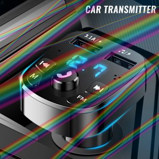 12/24V Wireless Bluetooth FM Transmitter Hands-free MP3 Charger Dual USB Car Charger Dual Equipped Player Bluetooth LED Display
