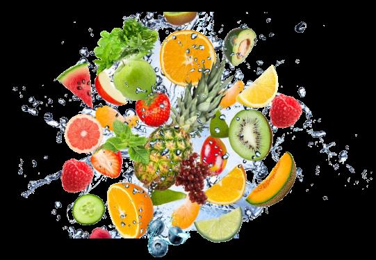 1 2 fruit water splash png clipart