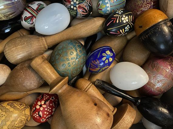 Category image: Visible mending - an assortment of darning eggs