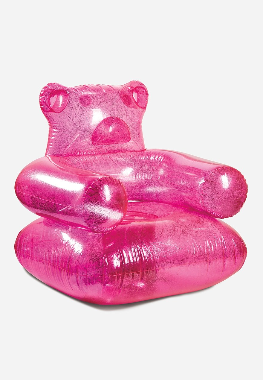inflatable chairs for adults skovby dining chair hot pink gummy bear justice