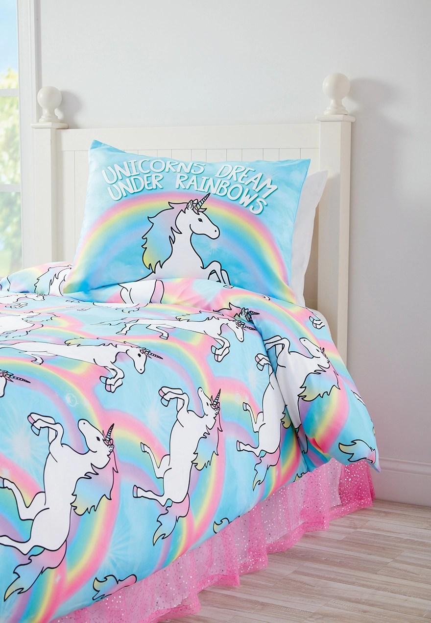 unicorn twin duvet set