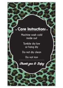 Green Leopard Care Card