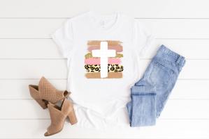 brushstroke pink cross