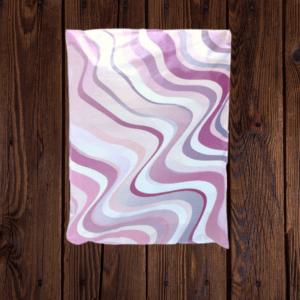 Purple Waves Poly Bag