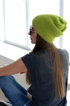 pistachio knit hat
