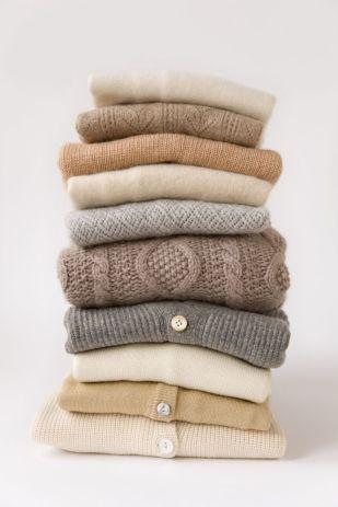 beige cozy knits